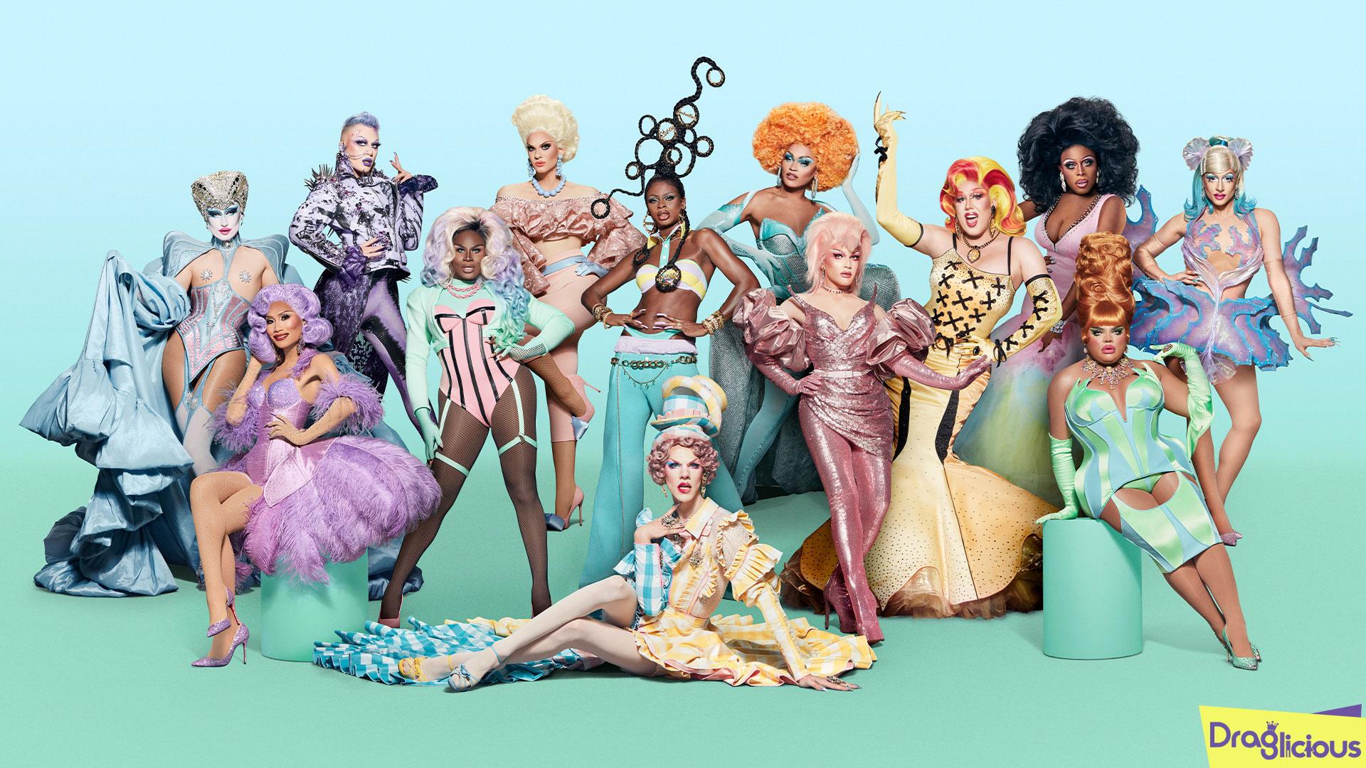 Elenco oficial de RuPaul's Drag Race Season 13   Draglicious